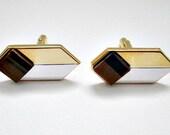 Vintage Cuff Links Cufflinks - Tiger Eye Cufflinks - Vintage Classy Men's Dude Jewelry Gift