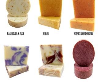 Fabulous 6 Soap Bundle - Natural Soap - Vegan Soap - Cold Processed Soap - Handmade Soap - Apothecary Soap - Essential Oils - 6 Bar Set