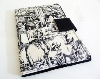 Skeletons iPad Mini Cover, Day of the Dead Soft book Style Cover / Case