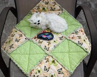 Cat Bed, Cat Blanket, Green Cat Blanket, Cat Accessories, Cat Travel Blanket, Colorado Catnip Bed, Pet Blanket, Catnip Mat