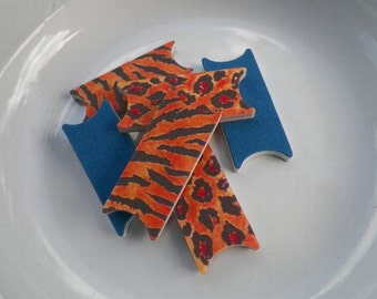 Animal Pack Tiger Leopard File Wise Nail Files Bridal Shower Bridesmaids Favor Beauty Manicure Teens Birthday Mini Nailfile DIY Nail Care