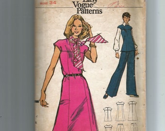 Vogue Misses'  Dress , Tunic and Pants  Pattern 8507