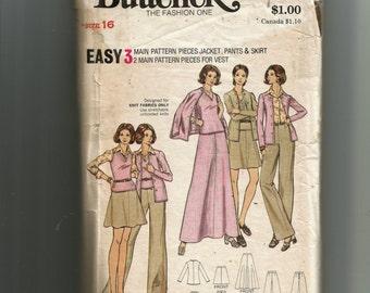 Butterick Misses' Jacket, Vest, Skirt and Pants Pattern 6992