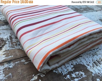 30% OFF SUPER SALE- Circus Striped Fabric-Reclaimed Bed Linen Fabric-