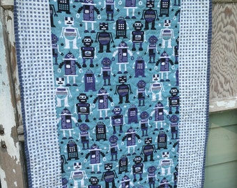 Robot Baby Quilt-Robots-For the Boys