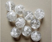 On Sale Vintage clear and white lucite beads