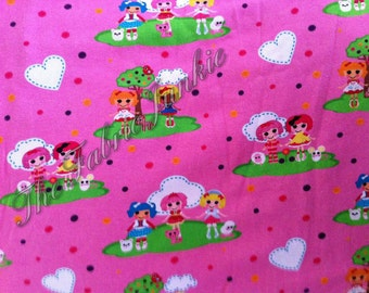 "Custom import cotton lycra knit fabric rag dolls htf diaper cut 20"" x 20"""