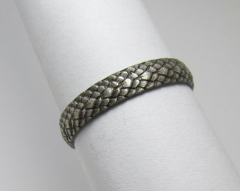 Dragon Scale ring Oxidized Sterling Silver Size 8