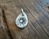 Charleston. Old South Collection Pendant - Oxidized fine Silver. Handmade