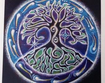 Tree of Life  Mandala Sticker- OneMandala Drawing Sticker- 3 inch