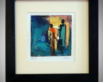 ABSTRACT Painting  ORIGINAL Modern Artwork - 14x14 Frame - MODERN Fine Art by Ben Will