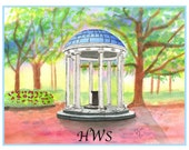 UNC Old Well Note Cards - custom monogram
