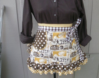Thanksgiving Aprons - Fall Aprons - Give Thanks Apron  - Happy Harvest Apron - Handmade Apron - Happy Fall Apron - Annies Attic Aprons