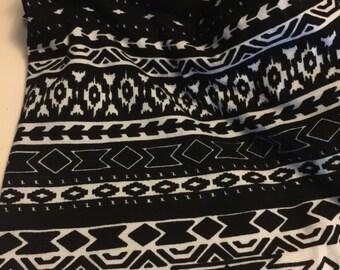 Soft Cotton Lycra Knit 1 Yard Tribal Print