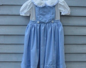 Girl's, size 4/5,  Dorothy from the Wizard of Oz costume.