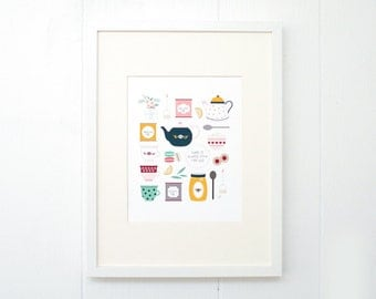 8x10 There is Always time for Tea Print