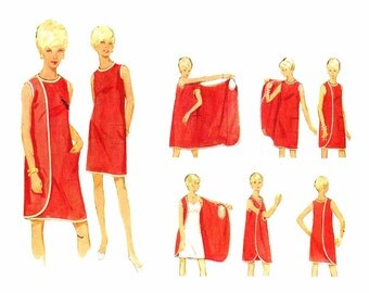 1960s Three Armhole Dress Butterick 4699 Vintage Sewing Pattern Size 16 Bust 38 UNCUT
