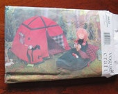 VOGUE Craft 9832 Doll Camping Set Sewing Pattern Tent Sleeping Bag Knapsack Linda Carr UNCUT