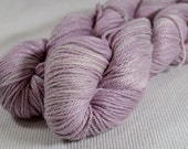 SALE 50% OFF Organic Cotton and Bamboo Hand Dyed Worsted Weight by Gemini Yarn Hollow Smokey Rose Petal Semi Solid