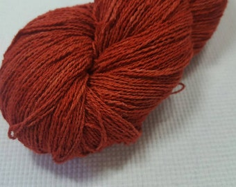 NEW Silk Noil Yarn Rusted Paint Semi Solid 4 Ounces, 400 yards great for weaving, knitting