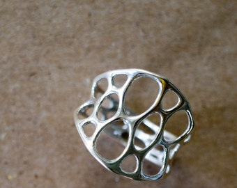 Silver 1-Layer Center Ring