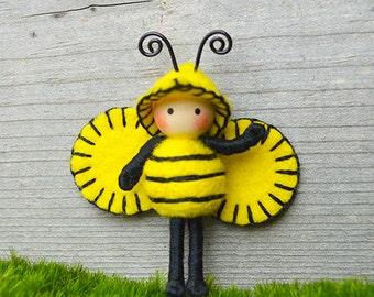 Bumble Bee tiny bendy doll bug