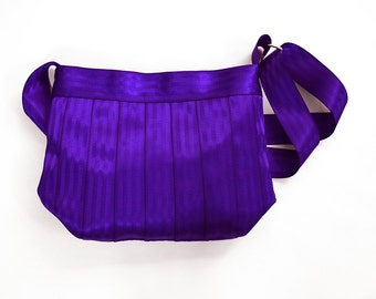 The Parenthesis Bag - Purple Seatbelt Bag - Cross-body Seatbelt Purse - Adjustable Strap / Shoulder Bag