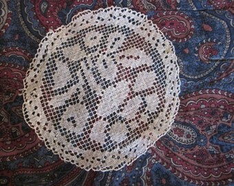 Vintage Filet Lace Ivory Coasters - All profits go to charity