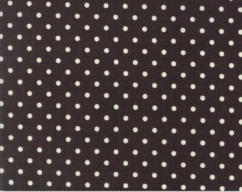 Chestnut Street - Polka Dot in Chalkboard: sku 20276-17 cotton quilting fabric by Fig Tree and Co. for Moda Fabrics - 1 yard