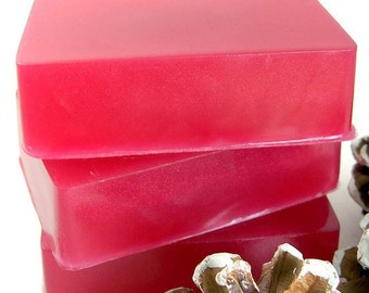 Holiday Cranberry Soap Bar, Handmade Cranberry Glycerin Soap