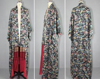 vintage kimono / silk robe / IN THE MOUNTAINS wedding kimono