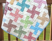 Baby Girl Quilt Old Fashioned Windmills Crib Bedding Nursery Bedding