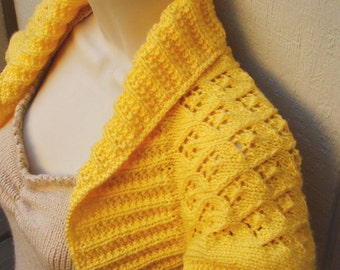 Maize Knit Shrug with Elfin Lace, size: Large  yellow maize bolero vest sweater shrug wedding bridal evening formal cover-up