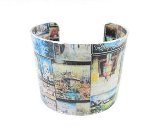 Cuff Bracelet, Bracelet Cuff, Art Cuff, Decoupage Bracelet Cuff, Wide Bracelet, Wide Cuff, Art Jewelry, Artisan Made by Durango Rose
