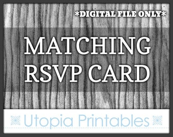Matching RSVP Card - Coordinated Response Card To Match Any Invitation In This Shop