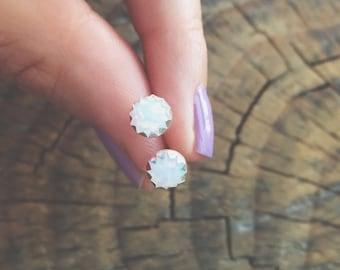 Opal Glass Earrings