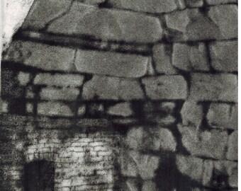 Wharton Furnace original hand printed etching with aquatint