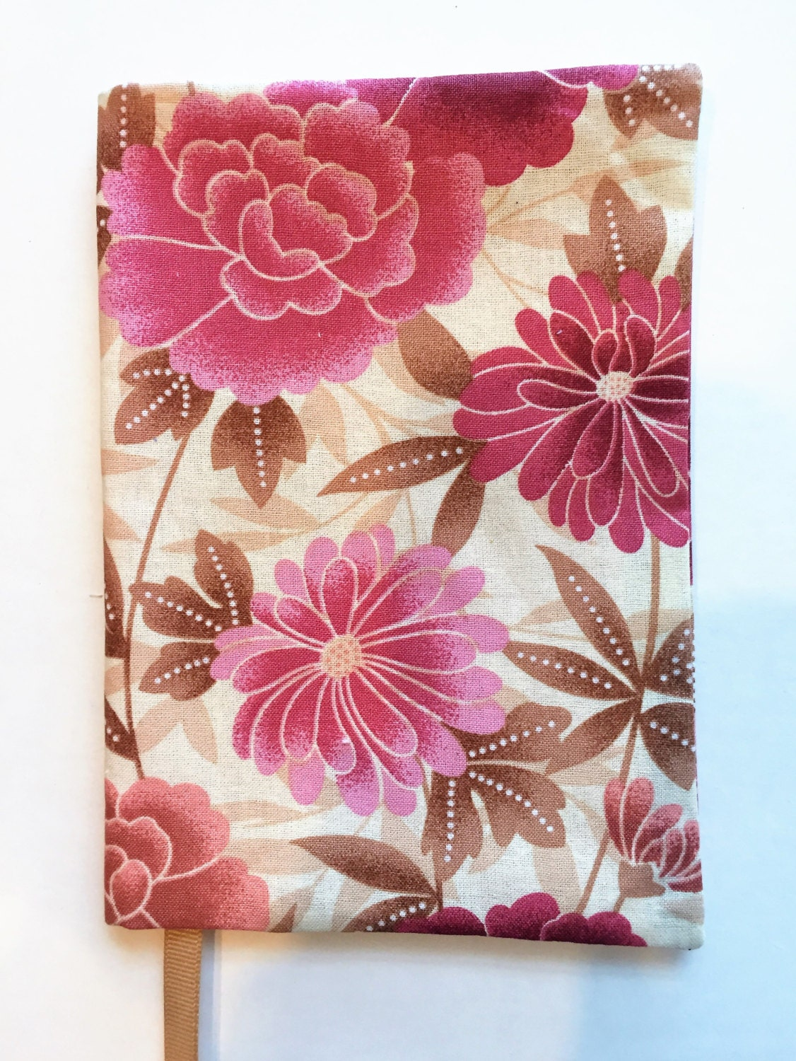 Book Cover Flower : Fabric paperback book cover standard size flower