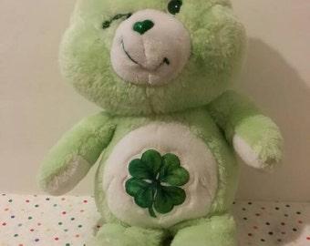 Vintage 1980's Care Bear ** GOOD LUCK **  Stuffed Plush