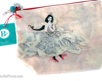 The Girl and the Swan Large Cosmetic Bag