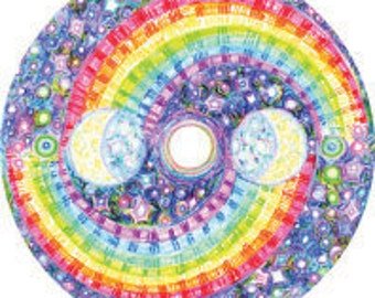 Cosmic Circle, Rainbow, Universe, Mystical, Yin Yang, Stars, Vision, Bohemian, Galaxy, Spiritual, Meditation, Car art, Better than stickers!