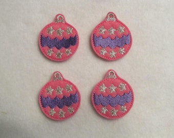 4 Felt ORNAMENT 2 Applique Embellishments Style YT
