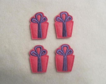 4 Felt GIFT BOX 1 Applique Embellishments Style YT