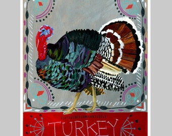 Animal Totem Print - Turkey