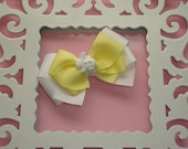 Yellow Bunny Small Boutique Bow