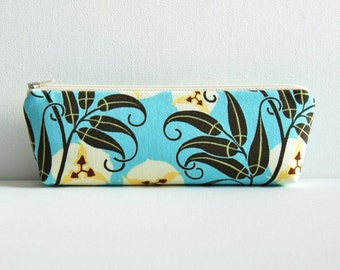 Zipper Pouch Makeup Bag Cosmetic Case Passion Vine in River Amy Butler Nigella
