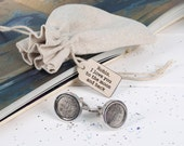 I Love You To The Moon And Back Cufflinks - gift for men - gift for husband - gift for boyfriend - romantic gift