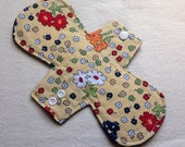 "SALE   9"" ~light flow~ Cotton Topped Cloth Menstrual Pad"