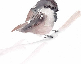 small winter sparrow print