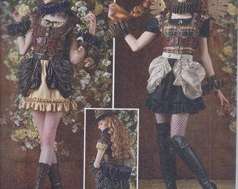 Simplicity 8075 Misses Steampunk Fantasy Cos Play Costume UNCUT Sewing Pattern